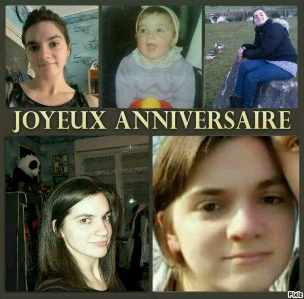 Joyeux anniversaire à Aurélie