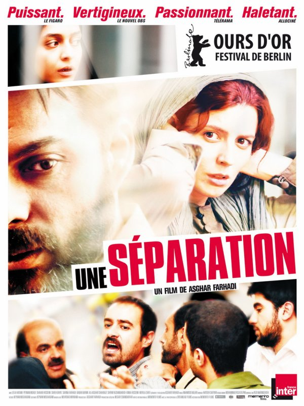 """Une séparation"" de Asghar Farhadi Film iranien, 2 h 03."