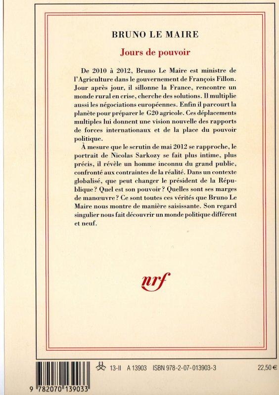 Bruno Le Maire  Jours de pouvoir