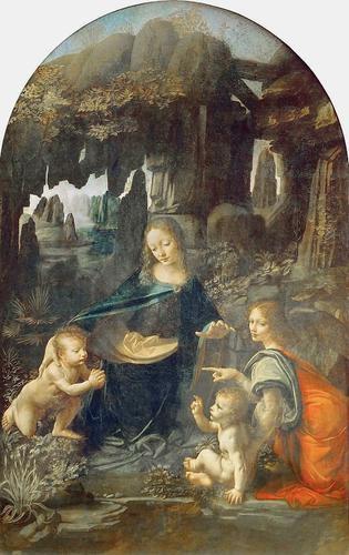 Léonard de Vinci  La Vierge aux rochers