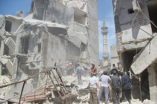 la bataille d'Alep Syrie