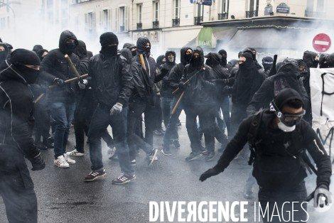 Manifs et groupes violents