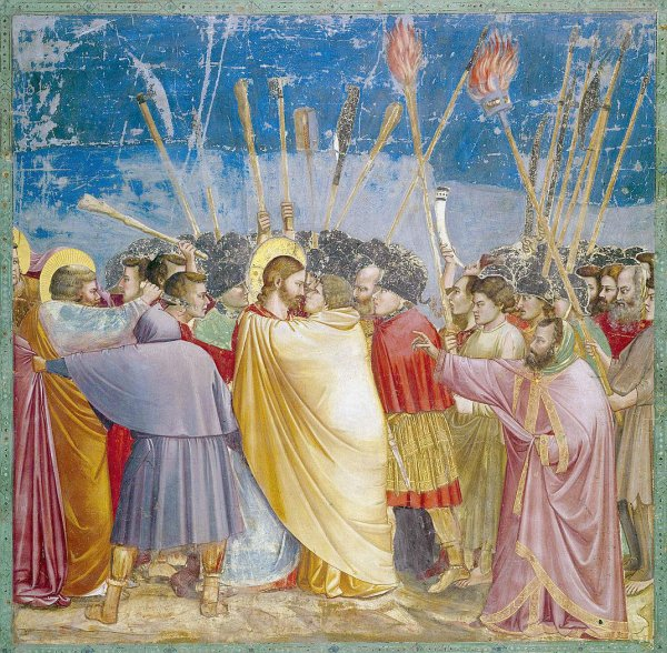 Giotto, le baiser de Judas