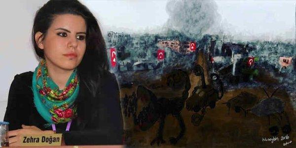 Les peintures de la jeune journaliste kurde Zehra Dogan