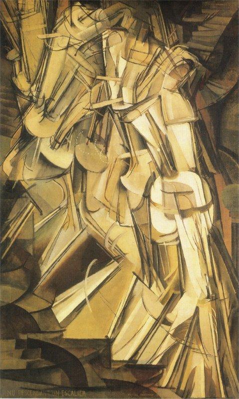Marcel Duchamps  Nu descendant un escalier, huile sur toile, 1912
