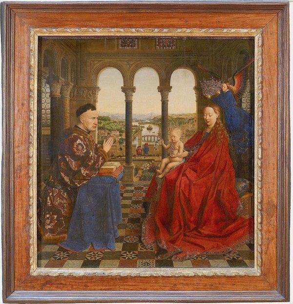La Vierge du chancelier Rolin, Van Eyck