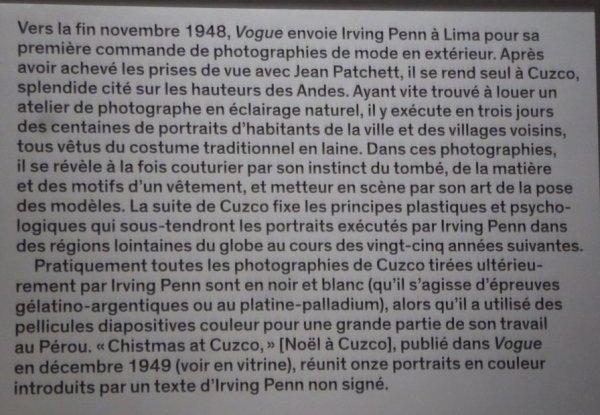 Irving Penn Expo au Grand Palais à Paris du 21 sept. au 29 janv. 2018