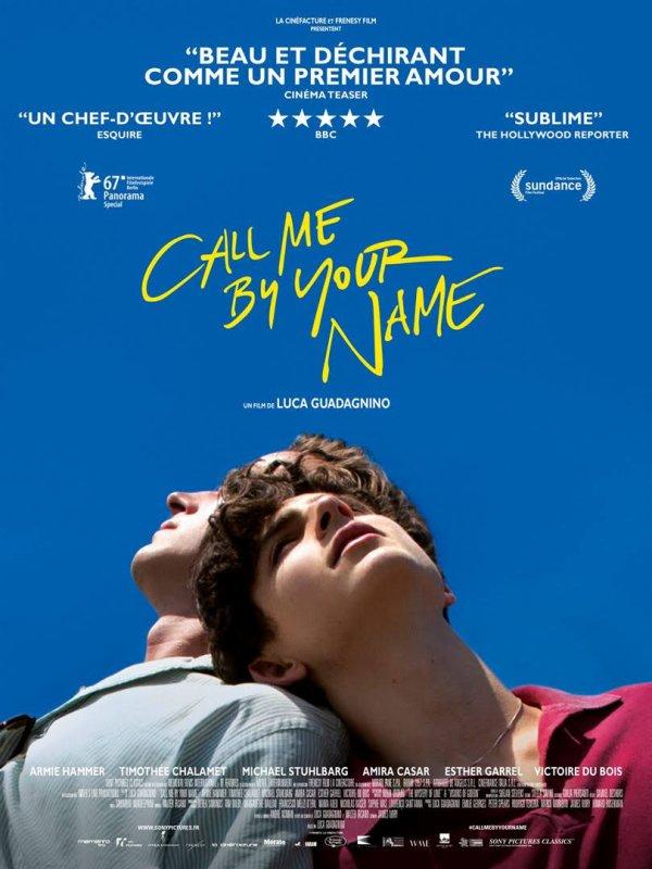 Call Me by Your Name *** de Luca Guadagnino Film franco-américain, 2 h 11