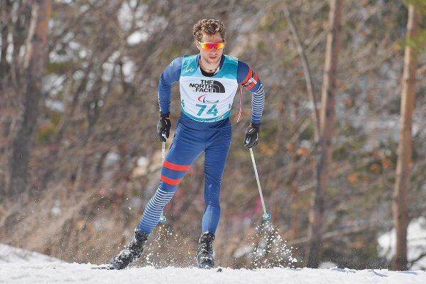 Benjamin Daviet médaille d'or sur les 12,5 km du biathlon à  PyeongChang Corée du Sud