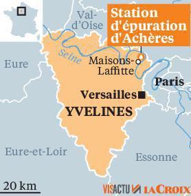 L'incendie de la station d'épuration d'Achères en juillet 2019