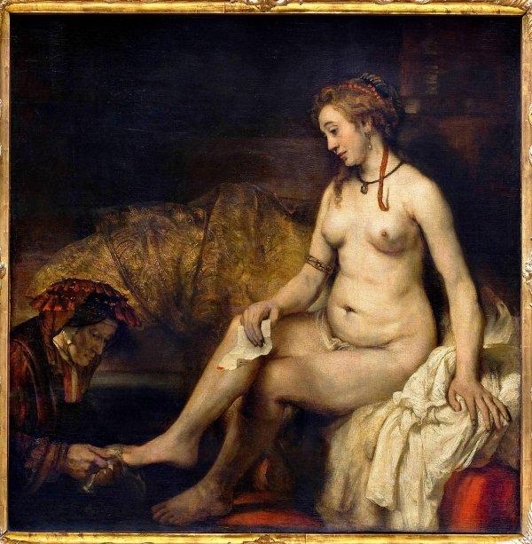 Rembrandt Bethsabée au bain (1664)