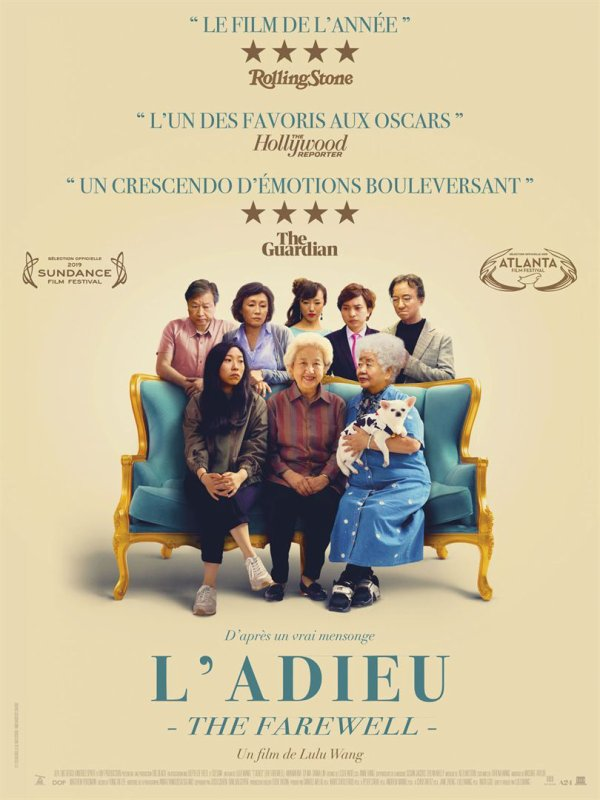 L'Adieu*** de Lulu Wang  Film sino-américain, 1h40