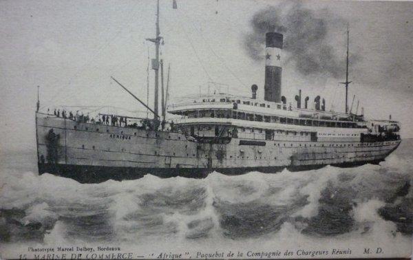 Paquebot Afrique, le centenaire d'un naufrage