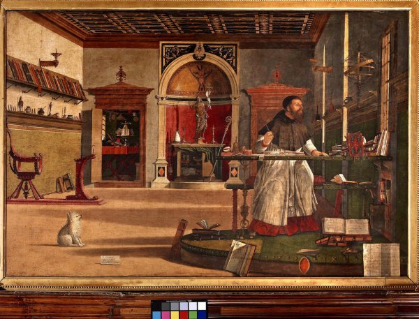 Vittore Carpaccio.  Vision de Saint Augustin