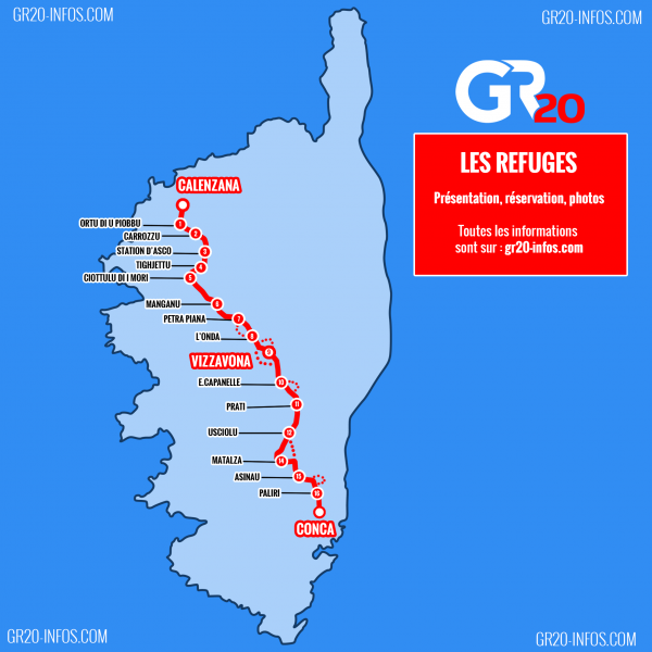 Randonnée en Corse GR 20