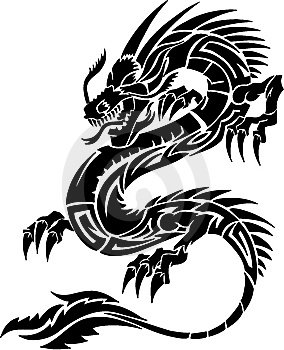 Projet n 1 dragon chinois tribal tao senshi tattoo - Dessins dragons chinois ...