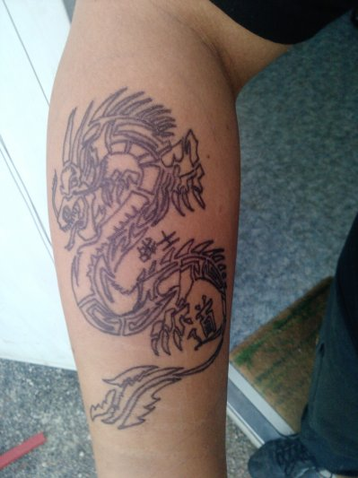 Projet N 1 Dragon Chinois Tribal Tao Senshi Tattoo