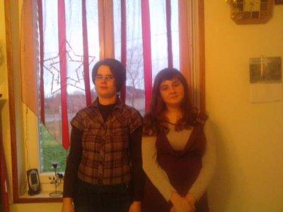 moi et ma soeur a nouvel an
