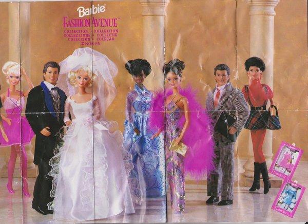 Dépliant Barbie  -Fashion avenue 1996 -