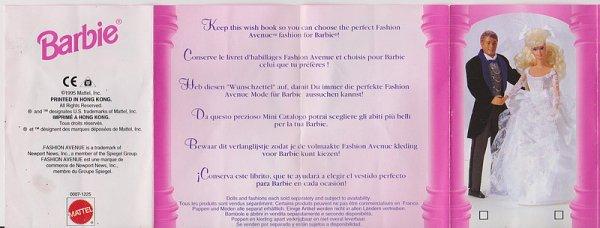 Dépliant Barbie  -Fashion avenue 1995 -