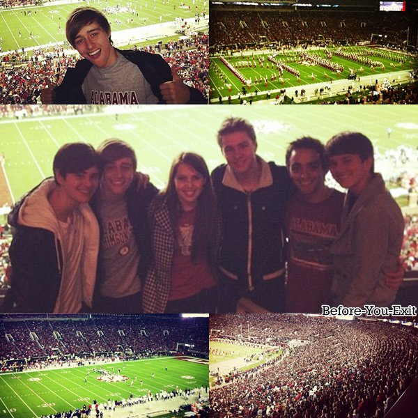 Le groupe a assister a un match de football américain en Alabama. De nouvelles vidéos de leur séjours au Brésil ont étaient mises en ligne.