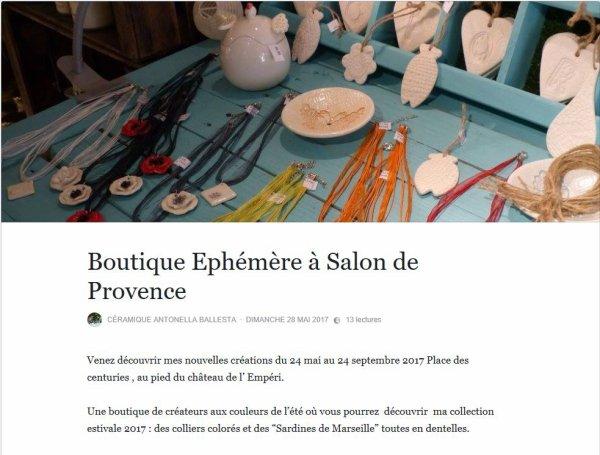 Une boutique de créateurs à Salon de provence.