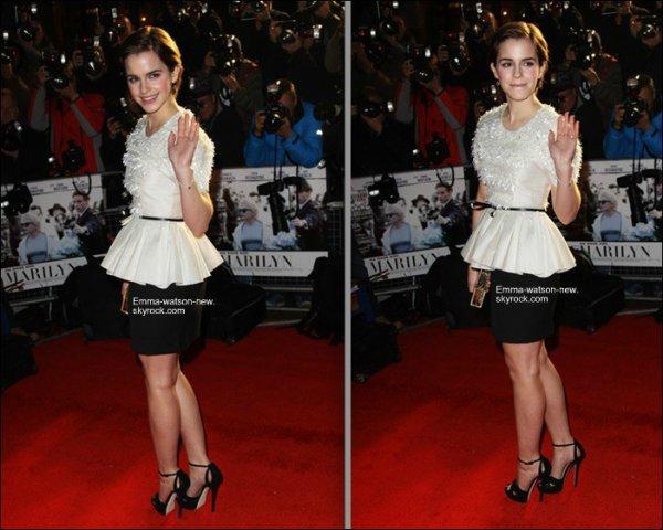 23/11/11Emma étais présente pour la promotion du film 'My week with Marylin '