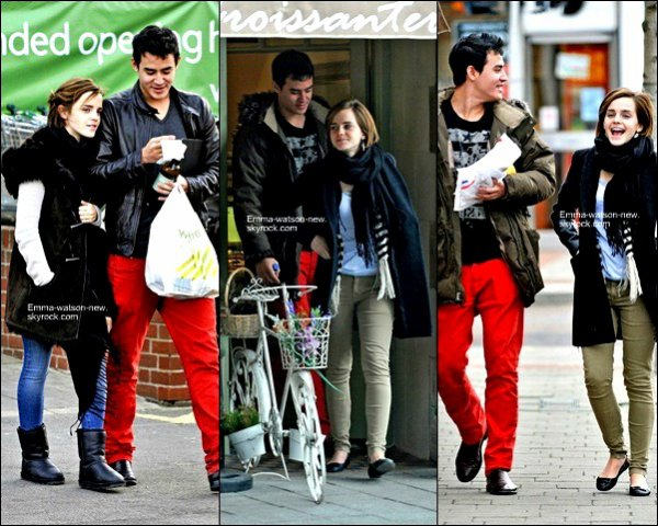 09/01/12 Emma dans les rues d' Oxford avec boyfriend durent le week-end . .  Alors ce petit ami vous le trouvé comment ?