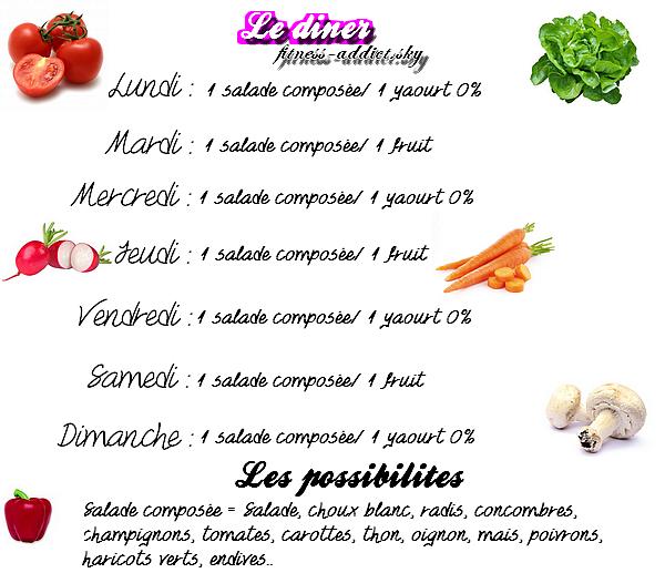 Article n°9  ►Programme alimentaire conseillé     en complément d'un entraînement