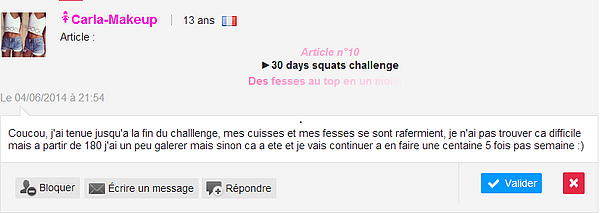 Article n°10  ►30 days squats challenge   Des fesses au top en un mois !