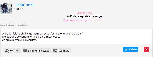 Article n°10  ►30 days squats challenge   Des fesses au top en un mois !