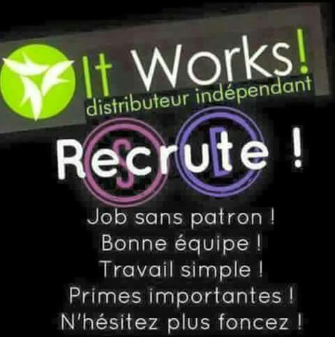3 places pour un job en or!!