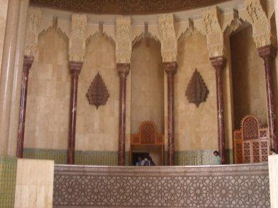 L'intérieur de la mosquée Hassan 2