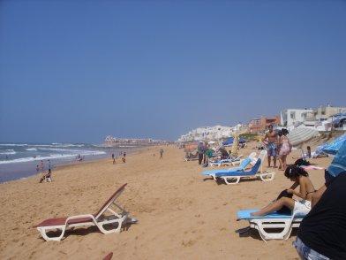 Un petit tour à la plage sur la route de Rabat