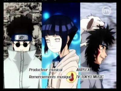 Naruto : Hinata Hyuga , Kiba , Shino