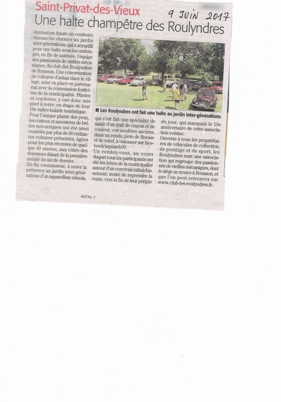 article Midi Libre du 9 juin 2017