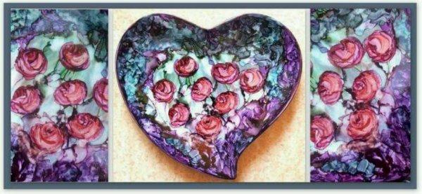 Coupelle coeur décorative