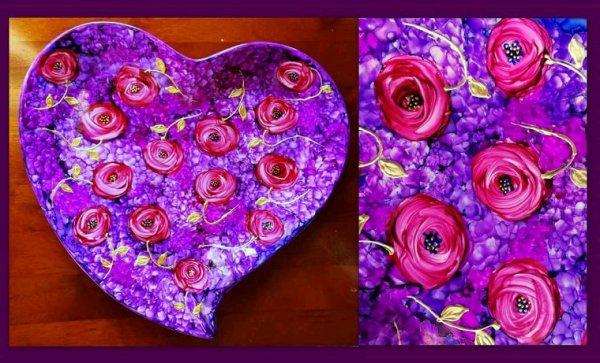 Coeur de porcelaine  de décoration