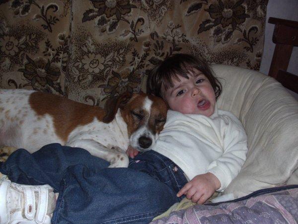 je dort avec mon chien