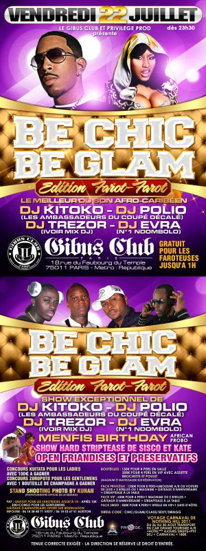 Vendredi 22 Juillet 2011 Be Chic Be Glam édition farot/farot ...