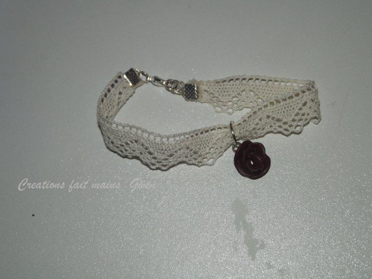 NOUVEAUTE | Bracelet en tissu avec breloque