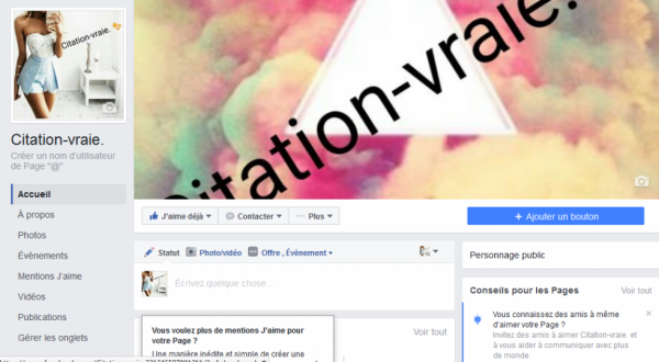 "Ma page FB ""Citation-vraie."""