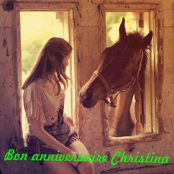 Bon anniversaire Christina!!