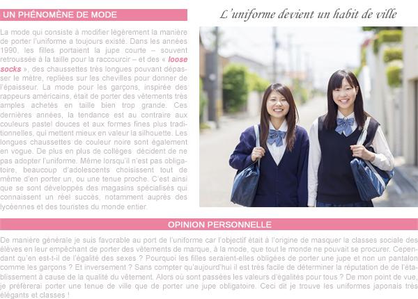 Les uniformes scolaires au Japon
