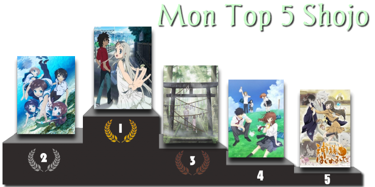 Mon Top 5 Shojo
