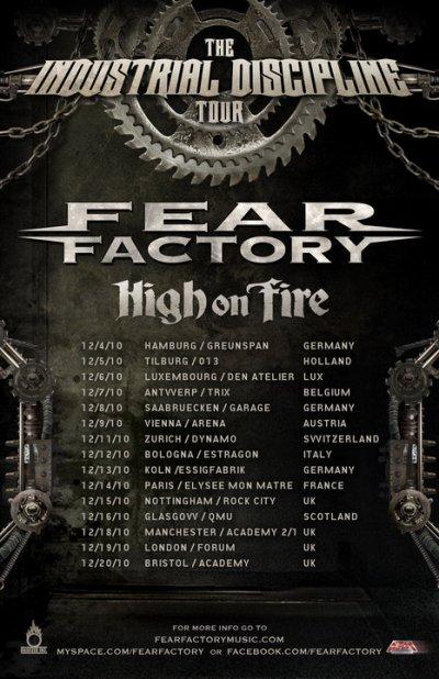 Fear Factory Tour 2010