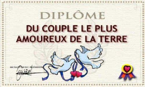 petite diplôme pour tout les couple heureux et combler par leur mari et femme