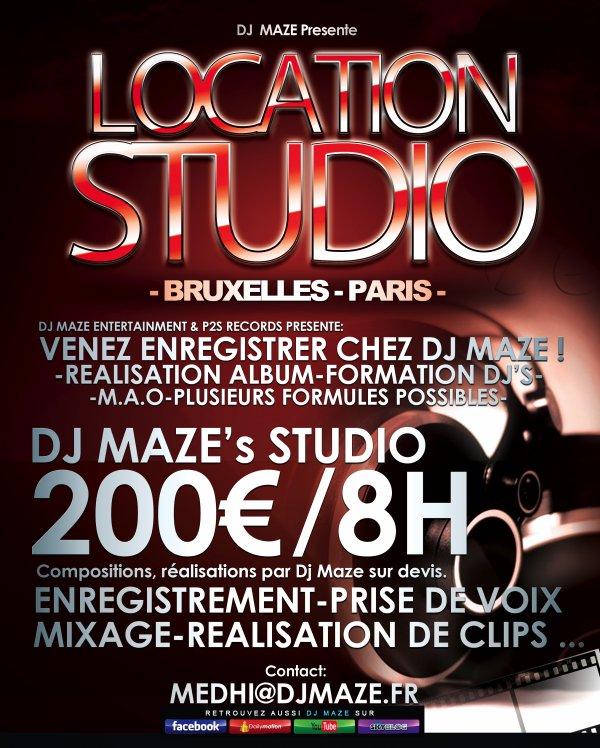 VENEZ ENREGISTRER CHEZ DJ MAZE !!!
