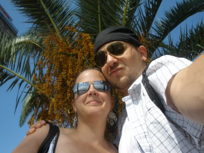 Avec l'homme de ma vie !!!! En vacances à Barcelone