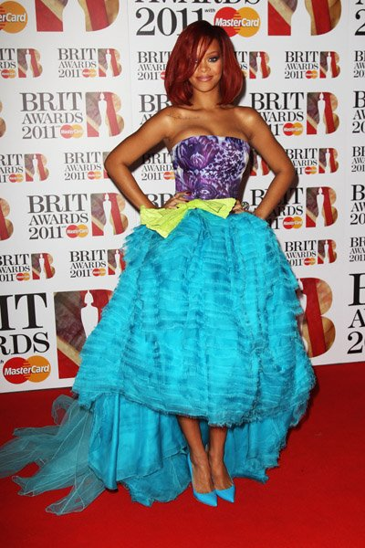 Rihanna aux Brit Awards 2011 à Londres